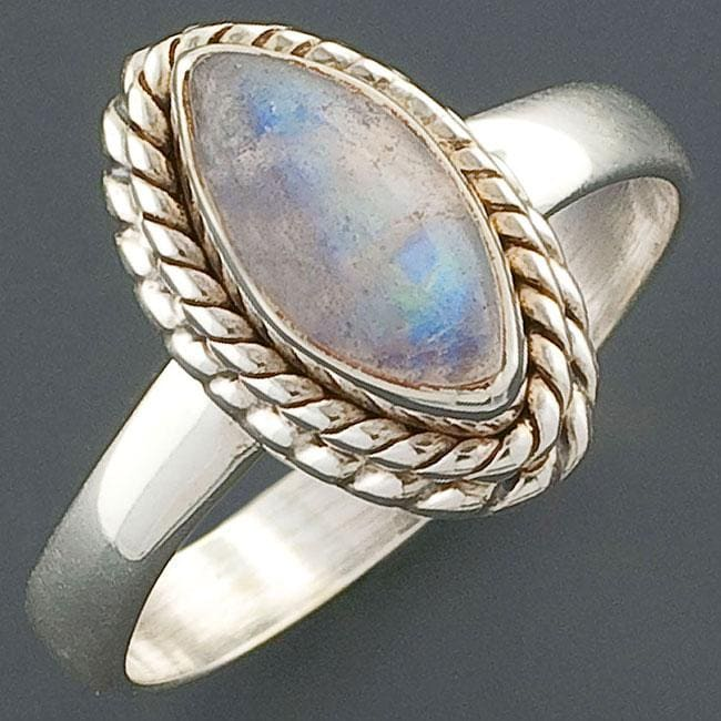 Moonstone Silver Solitaire Ring (India) - 10797551 ...