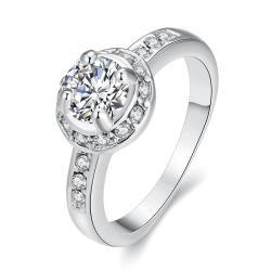 Vienna Jewelry Micro-Insert Ring White Gold Size 8 - Thumbnail 0