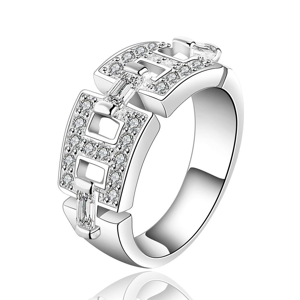 Vienna Jewelry Sterling Silver Interlocking Band Ring Size: 7