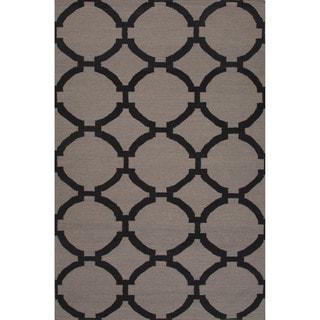 Hand Tufted Grey Beige Wool Area Rug 14812015