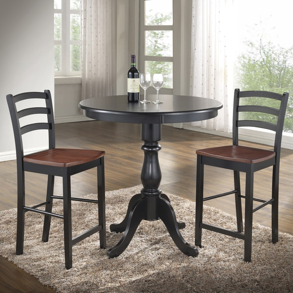 Overstock Bar Table: Linville Round Pedestal Bar Table