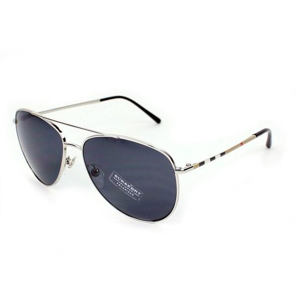 a262b6491c Burberry BE3072 Womens Metal Aviator Polarized Sunglasses on PopScreen