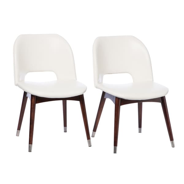 Dining Chairs Deals: Betty Modern White Leather Dining Chairs (Set Of 2
