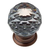 GlideRite 1.19-inch Clear K9 Crystal Cabinet Knobs Oil Rubbed Bronze (Pack of 10 or 25)