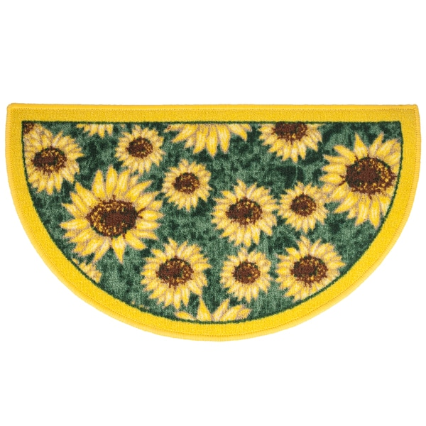 Sunflower Slice Kitchen Rug 1 6 X 2 6 17158460