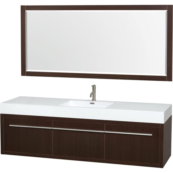Wyndham Collection Axa 72 Inch Single Bathroom Vanity