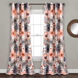 Lush Decor Leah Room Darkening Curtain Panel Pair