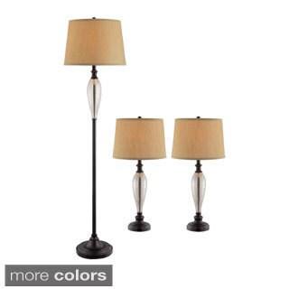 Burleigh Glass Combo Lamp Set