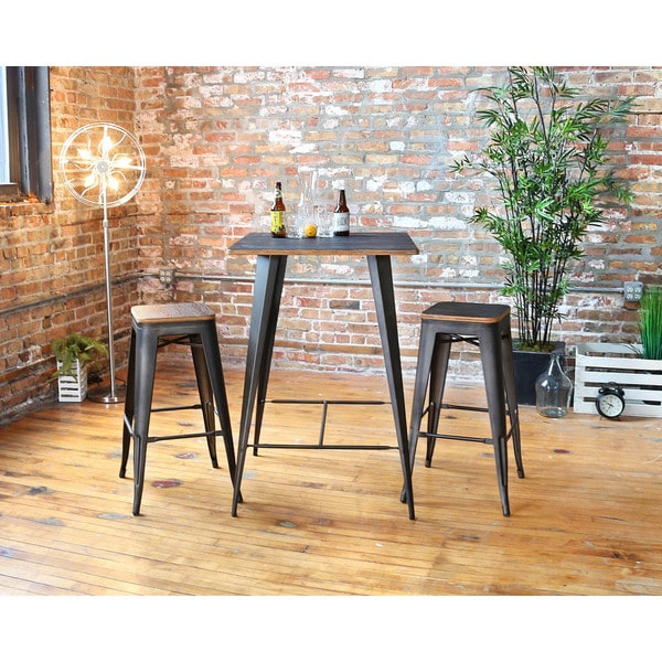 Oregon Rustic 3 Piece Pub Set 17164867 Overstock Com