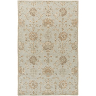 Safavieh Hand Knotted Oushak Soft Green Ivory Wool Rug 9