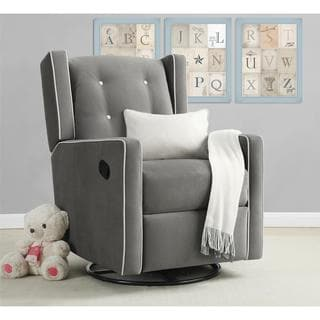 Baby Relax Lainey Graphite Grey Wingback Chair And A Half