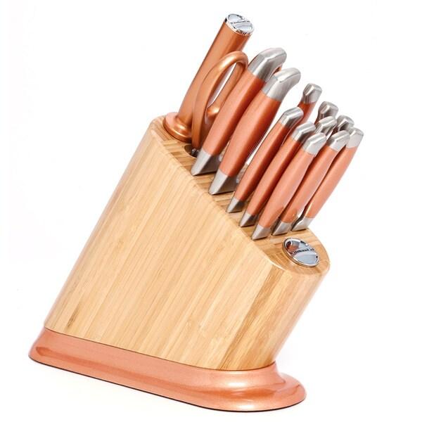 Kitchenaid 14 Piece Copper Aluminum Bamboo Cutlery Set