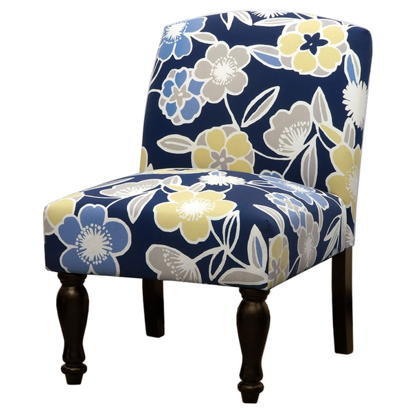 Blue Floral Accent Chair Overstock Shopping Great