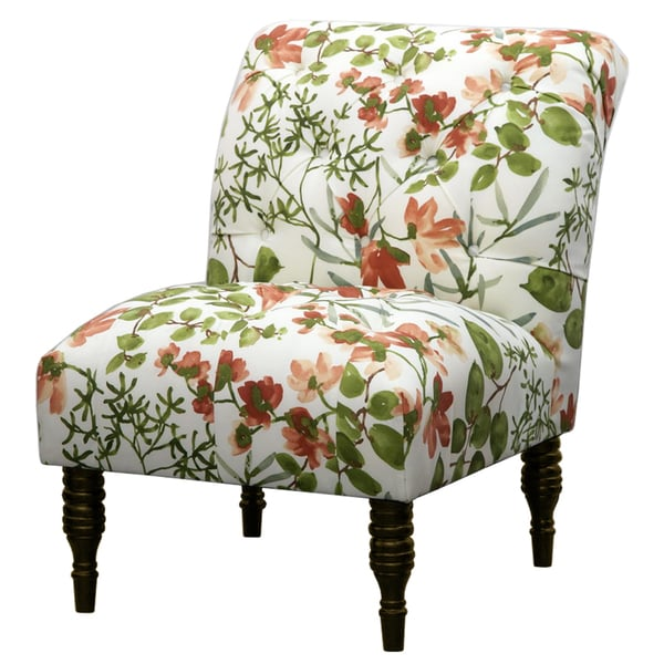 Colorful Living Room Chairs: Multi Color Ikat Tufted Accent Chair