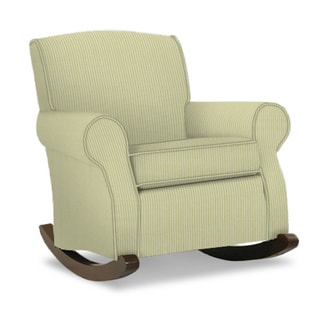 Baby Relax Harlow Wingback Beige Rocker With Nailheads