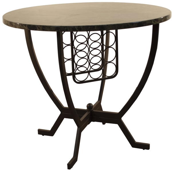 Overstock Bar Table: Concorde Faux Marble Pub Table With Wine Rack