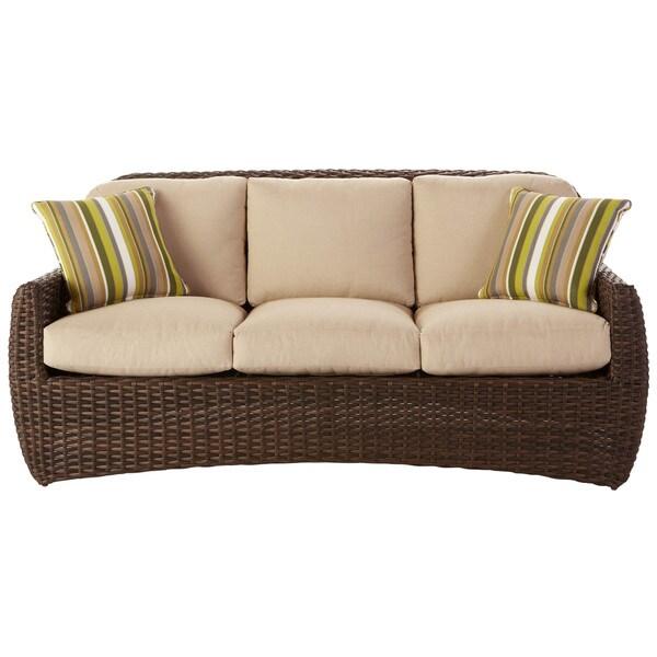 art van hudson sofa with pillows taupe 17183489. Black Bedroom Furniture Sets. Home Design Ideas