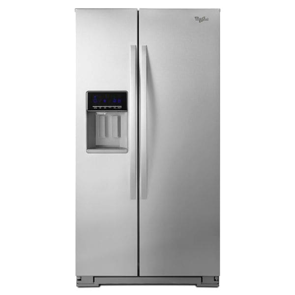 Energy Star Commercial Refrigerator Whirlpool 25.6 cubic feet Side by Side Refrigerator ...