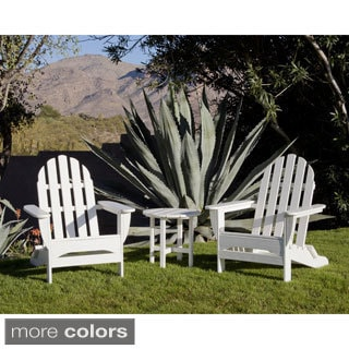 Reclining Adirondack Chair With Pull Out Ottoman