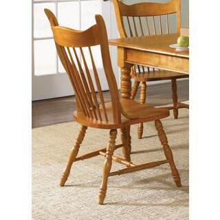 Nostalgia Traditional Oak Double Press Back Side Chair