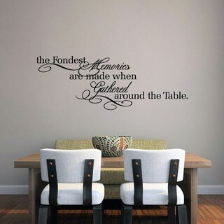 The Fondest Memories' 45 x 16-inch Kitchen Wall Decal