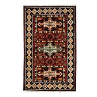 Herat Oriental Indo Hand-knotted Tribal Kazak Wool Rug - 3'2 x 5