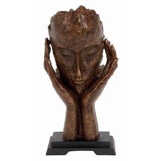 The Curated Nomad Merced Polystone Meditator Cold Cast