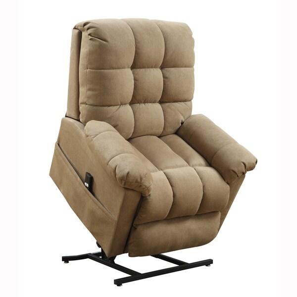 Archer Tan Fabric Power Lift Chair Recliner - Overstock ...