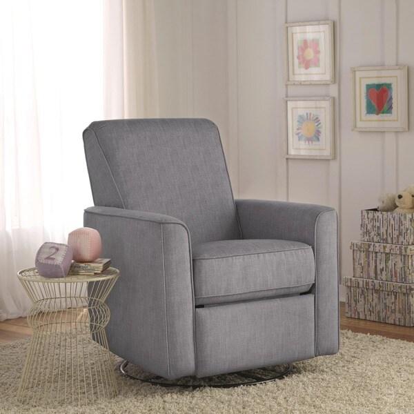 Zoey Grey Nursery Swivel Glider Recliner Chair 17197808
