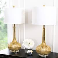 Abbyson Antique Gold Mercury Glass Table Lamp (Set of 2)