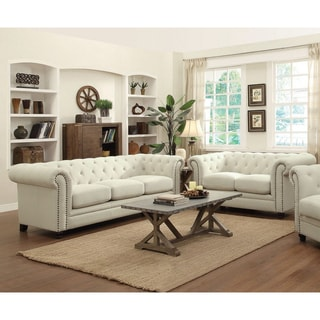 Abbyson Living Alessio 3 Piece Leather Sofa Chair And
