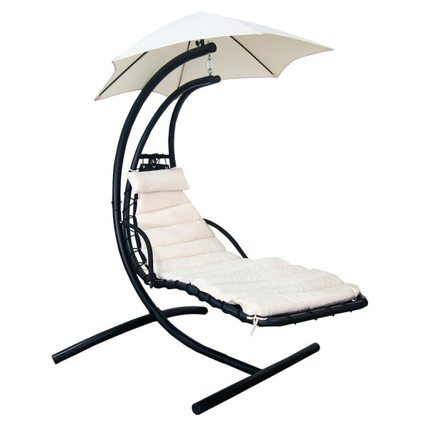 island retreat hanging lounge w shade canopy 17209240 shopping great deals. Black Bedroom Furniture Sets. Home Design Ideas