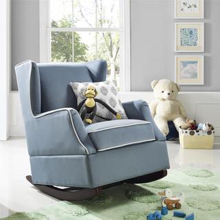 Baby Relax Hudson Graphite Grey Wingback Rocker Chair