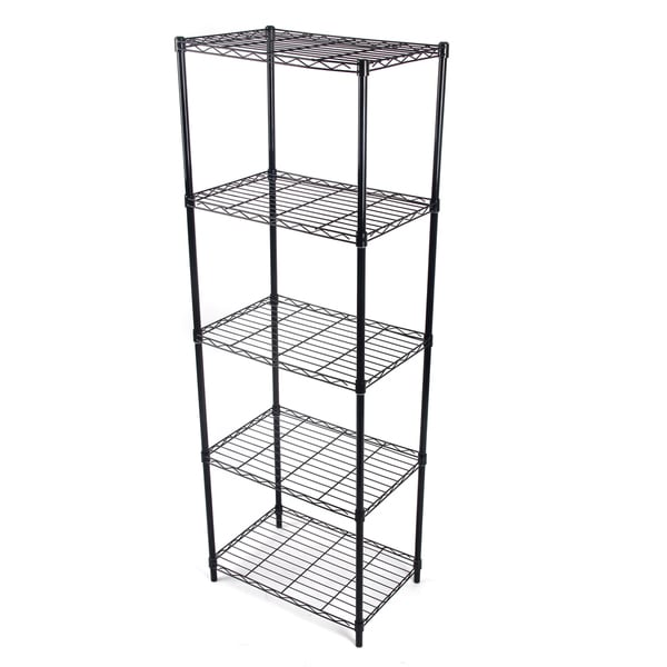 Gold Sparrow 5 Tier Black Wire Shelving 17227914
