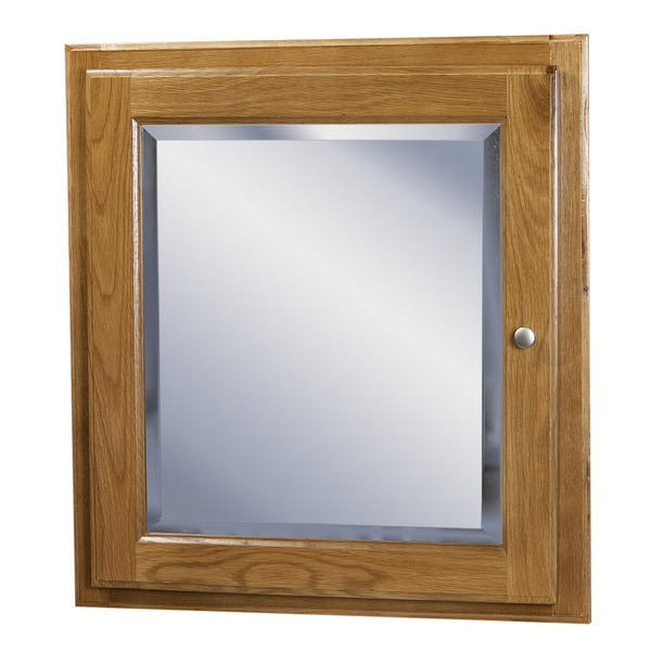 Wall Mounted Oak Medicine Cabinet With Mirror 17230955