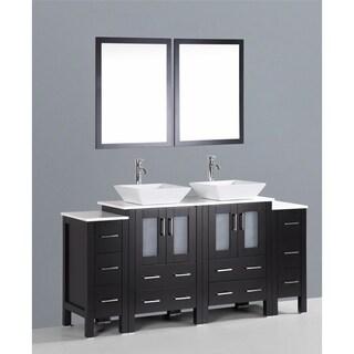 Design Element Stanton 72 Inch Double Sink Bathroom Vanity