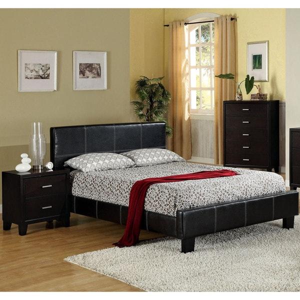 Modern Discount Bedroom Furniture: Furniture Of America Geriza Modern 3-piece Espresso