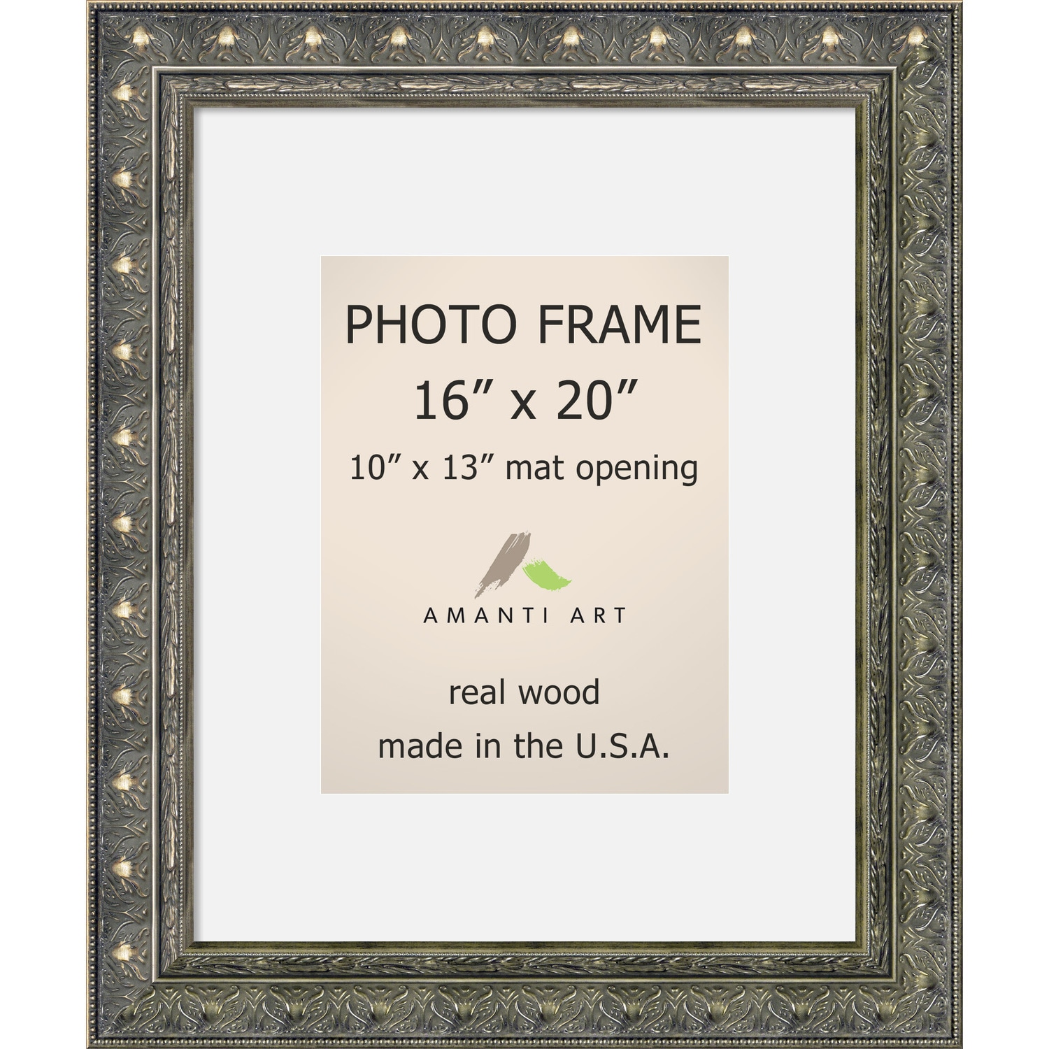 Barcelona Pewter Photo Frame 16x20 Matted To 10x13 20 X