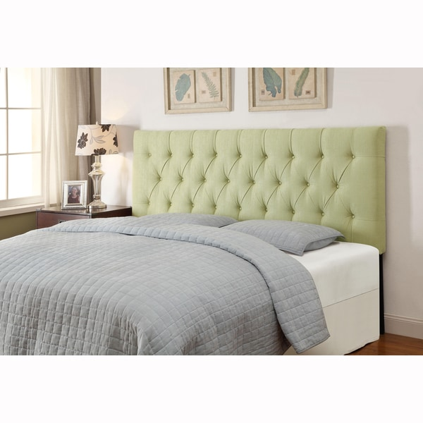 Lime Green Queen Full Size Tufted Upholstered Headboard