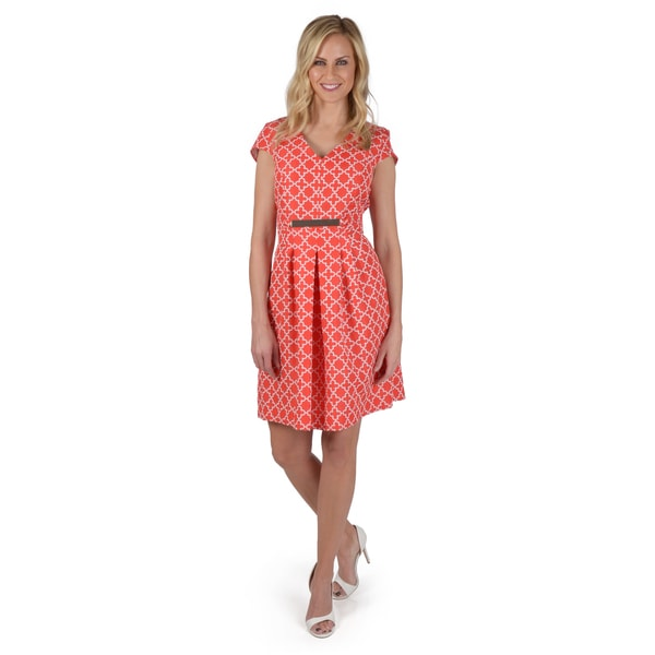 Shelby Amp Palmer Women S Cap Sleeve A Line Dress