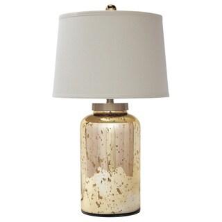Kirkham 1 Light Champagne Ribbed Ceramic Table Lamp