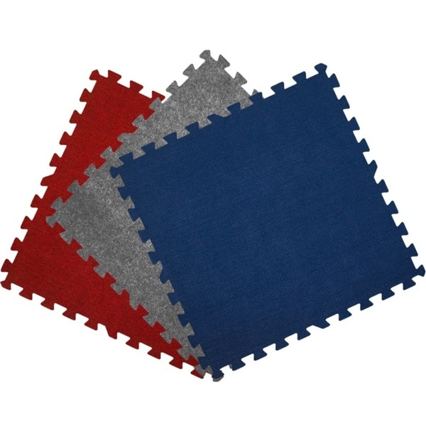 Get Rung Carpet Topped Interlocking Foam Puzzle Mat