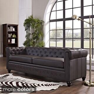 Mason Black Leather Sofa 10537718 Overstock Com