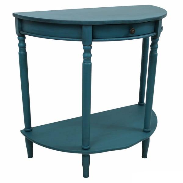 Half Wall Table: International Caravan Ashbury Shabby Chic 1-drawer 2-tier