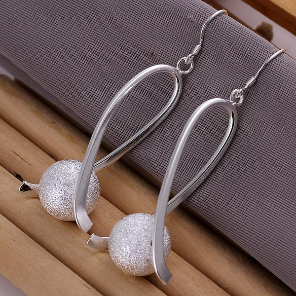 Vienna Jewelry Sterling Silver Pearl Curved Earring