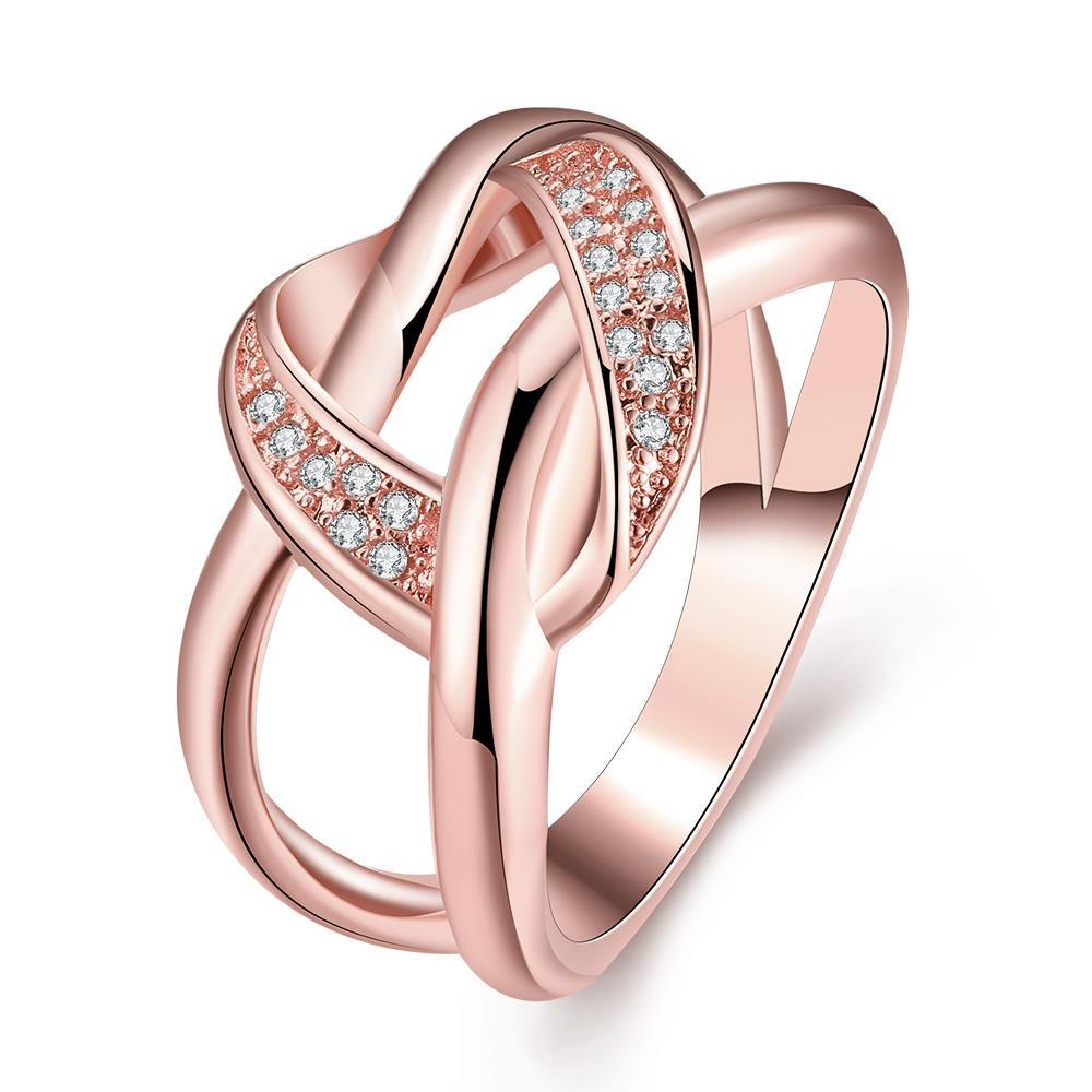 Vienna Jewelry Gold Plated Twisted Modern Love Knot Ring