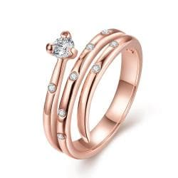 Vienna Jewelry Rose Gold Plated Circular Design Swirl Ring Size 8 - Thumbnail 0