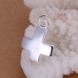 Vienna Jewelry Sterling Silver Petie Cross Pendant - Thumbnail 0