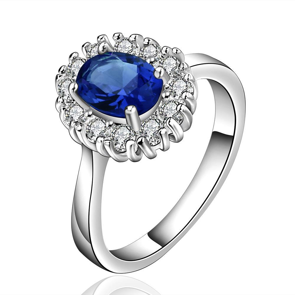 Vienna Jewelry Sterling Silver Sapphire Jewels Covering Petite Ring Size: 7
