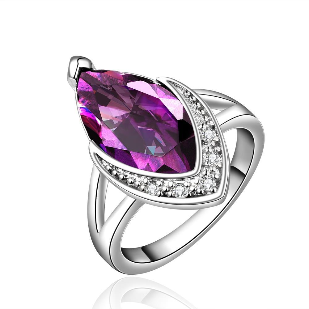 Purple Citrine Classical Jewels Covering Ring Size 7